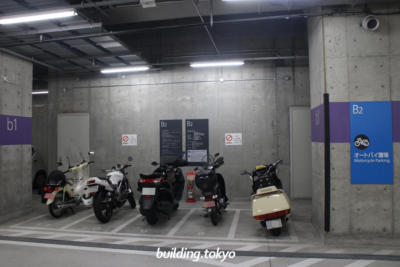 丸の内永楽ビルディング、バイク駐車場