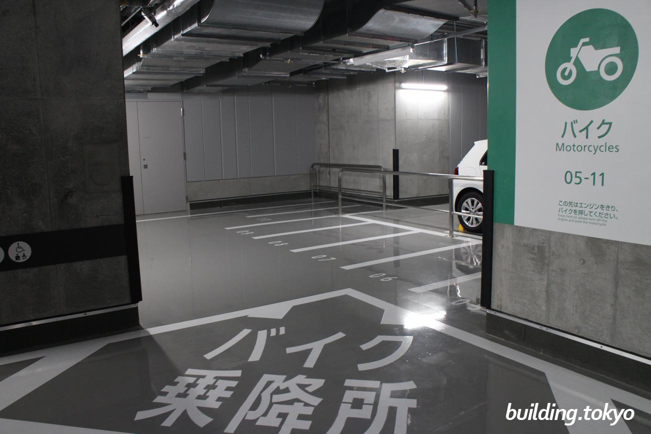 日本橋高島屋S.C.新館駐車場 B4F、バイク駐車場