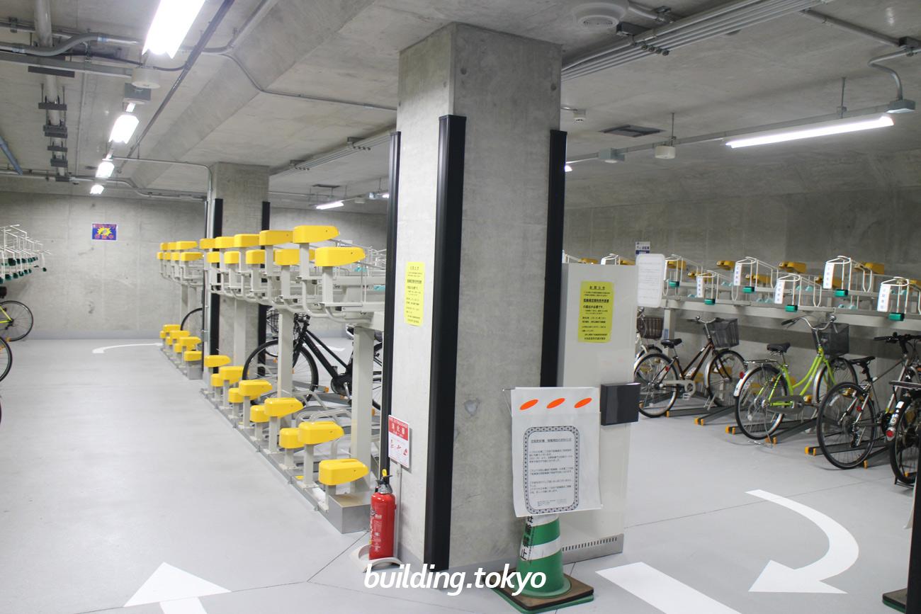 日本橋二丁目地下駐輪場