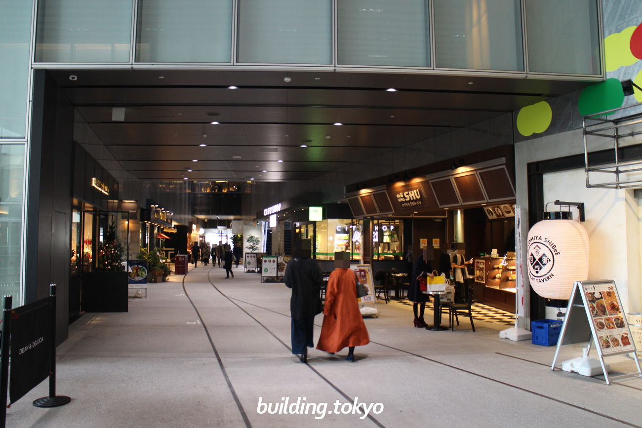 渋谷ストリーム、2階の様子。
