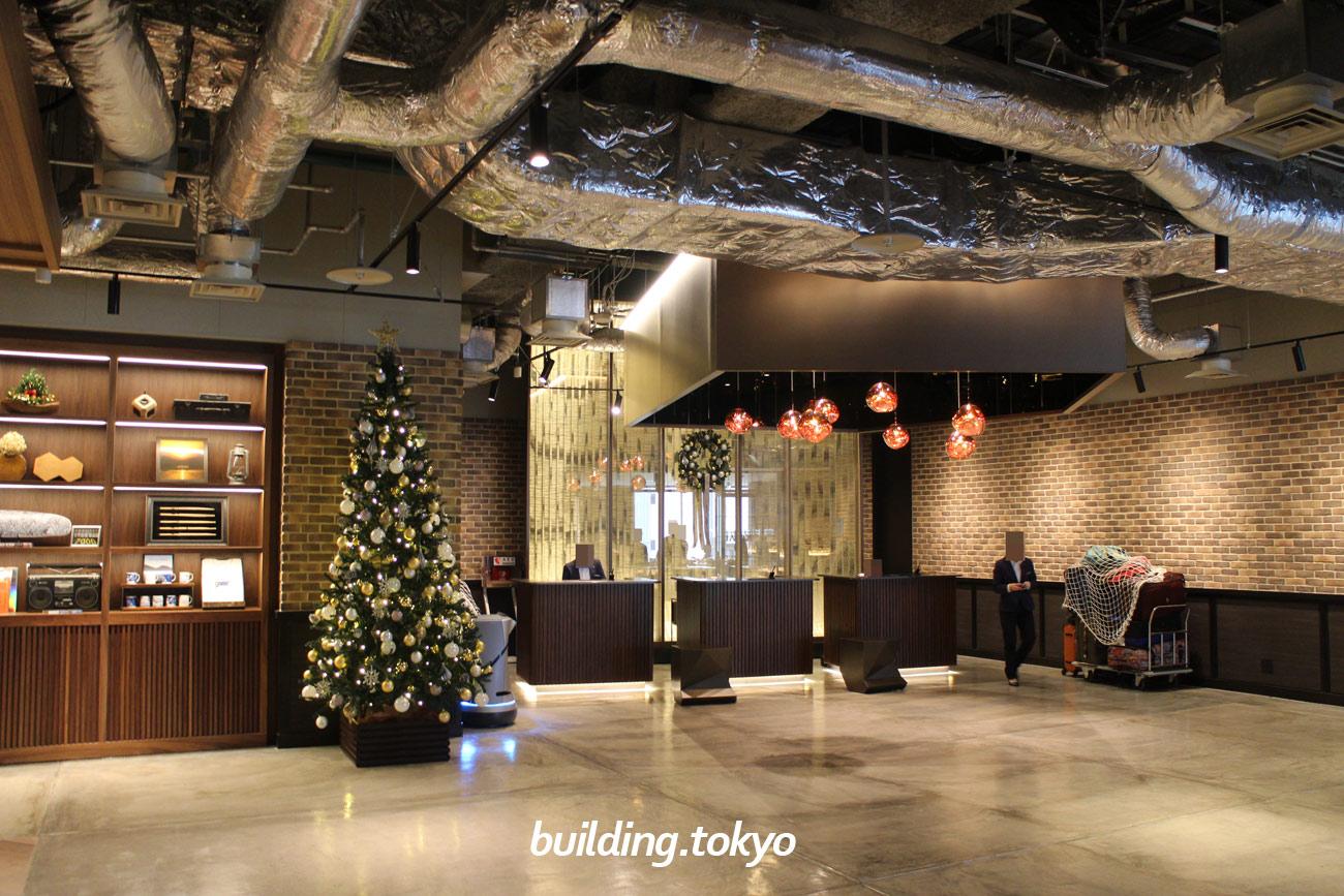 渋谷ストリーム エクセルホテル東急。4F、フロントの様子。