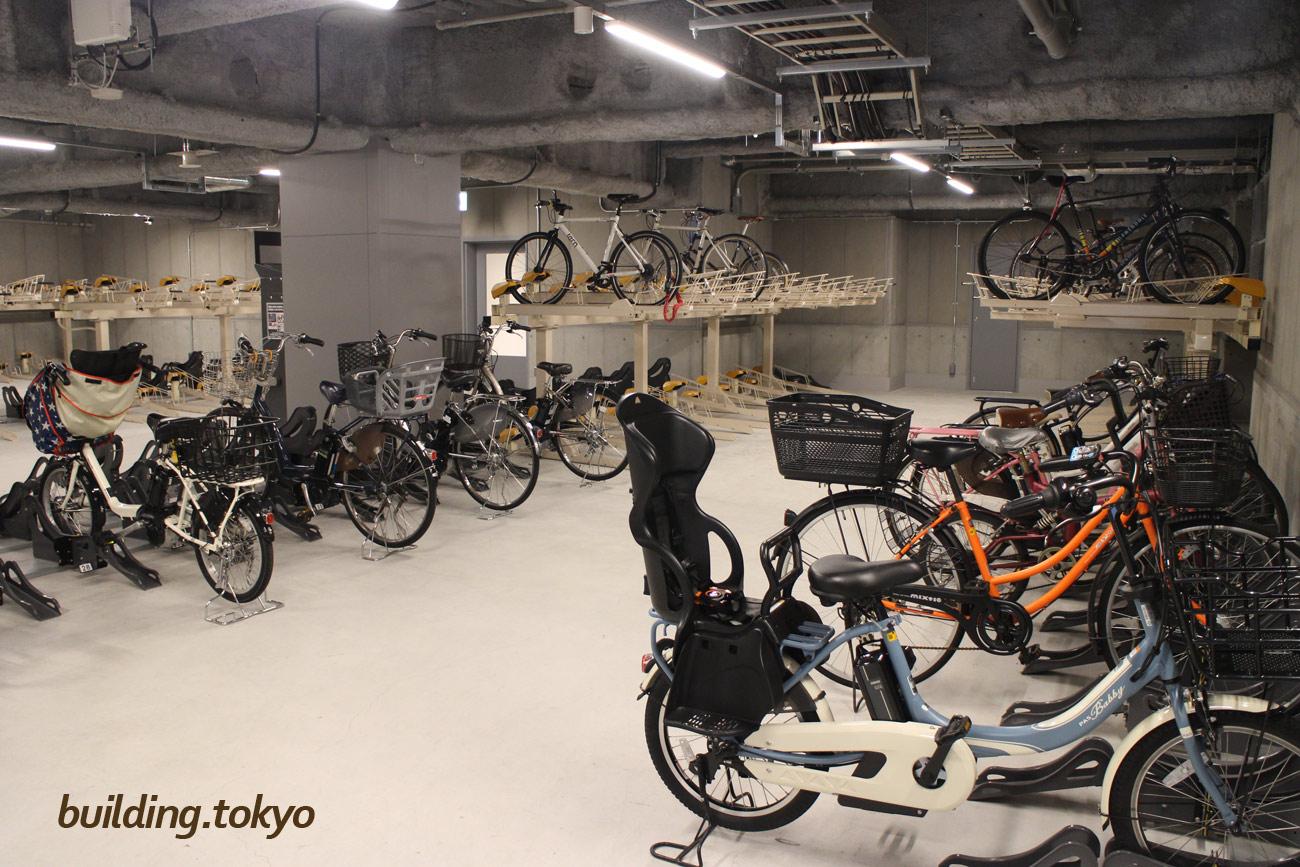 渋谷ストリーム。自転車駐輪場の様子。