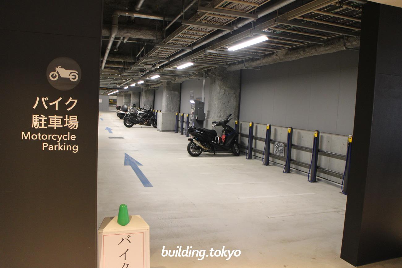 渋谷ストリーム。バイク駐車場。